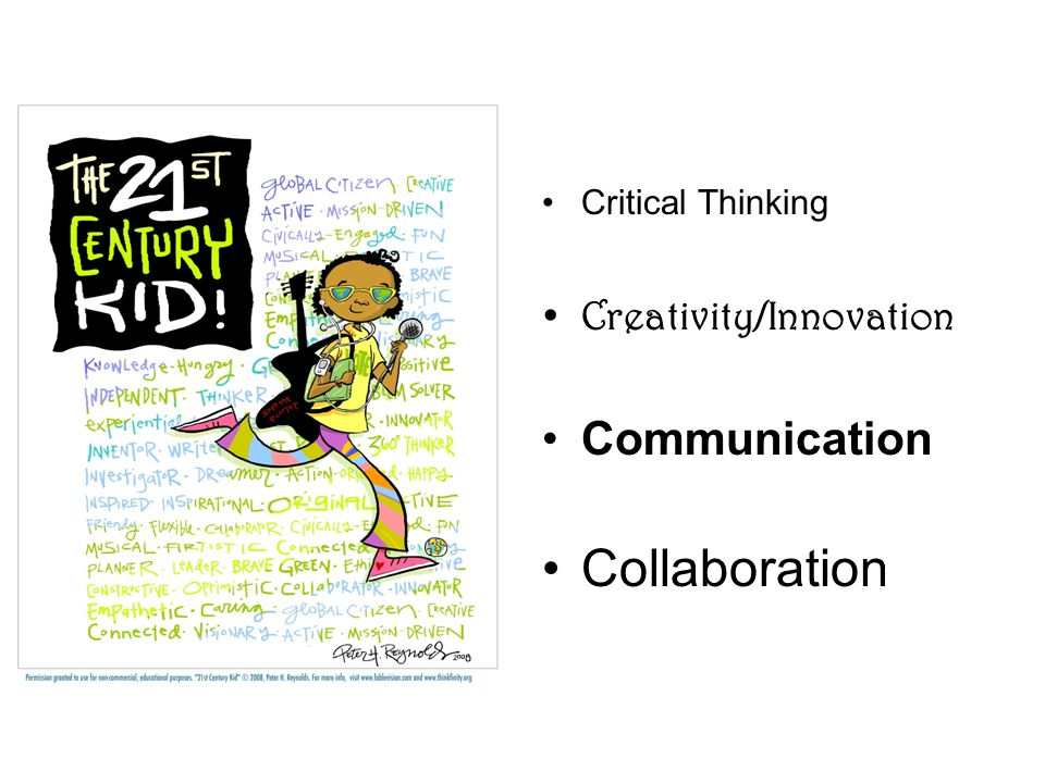 Critical Thinking Creativity/Innovation Communication Collaboration