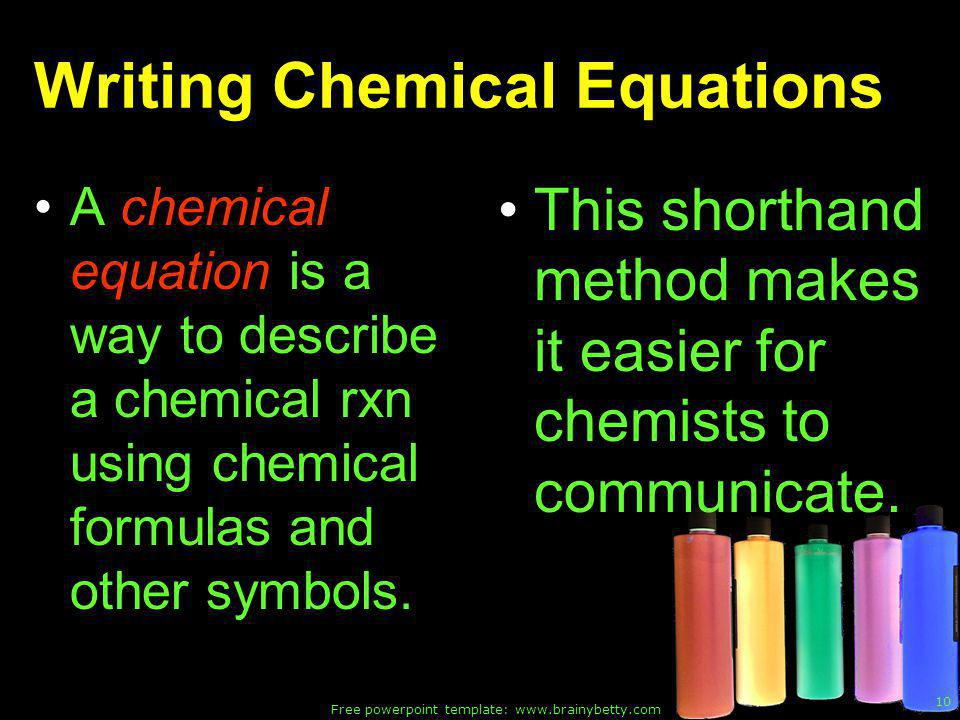 powerpoint presentation writing chemical formulas