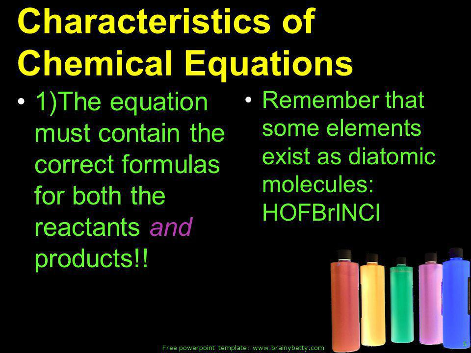 Free powerpoint template: www.brainybetty.com 36 Bases These are the properties of bases: 1) Aqueous solutions of bases taste bitter.