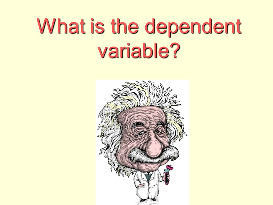 What is the dependent variable?