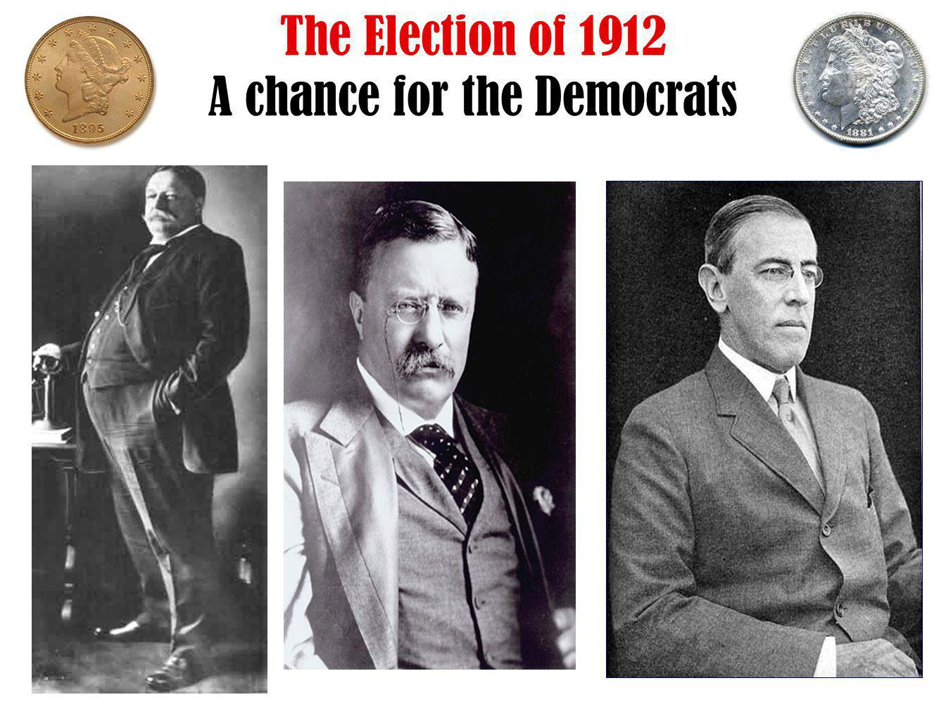 The Election of 1912 A chance for the Democrats