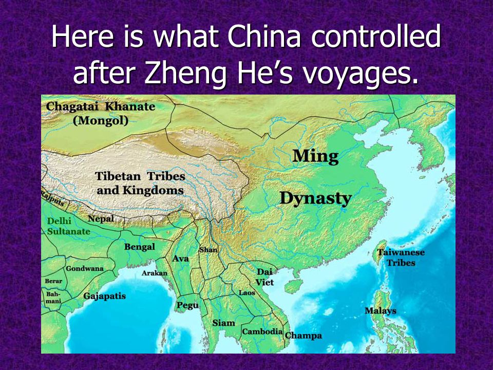 Here is what China controlled after Zheng He's voyages.