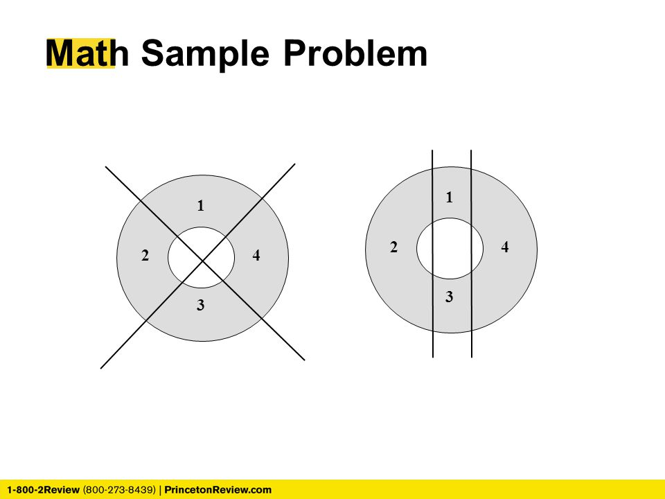 Math Sample Problem 1 2 3 4 1 2 3 4