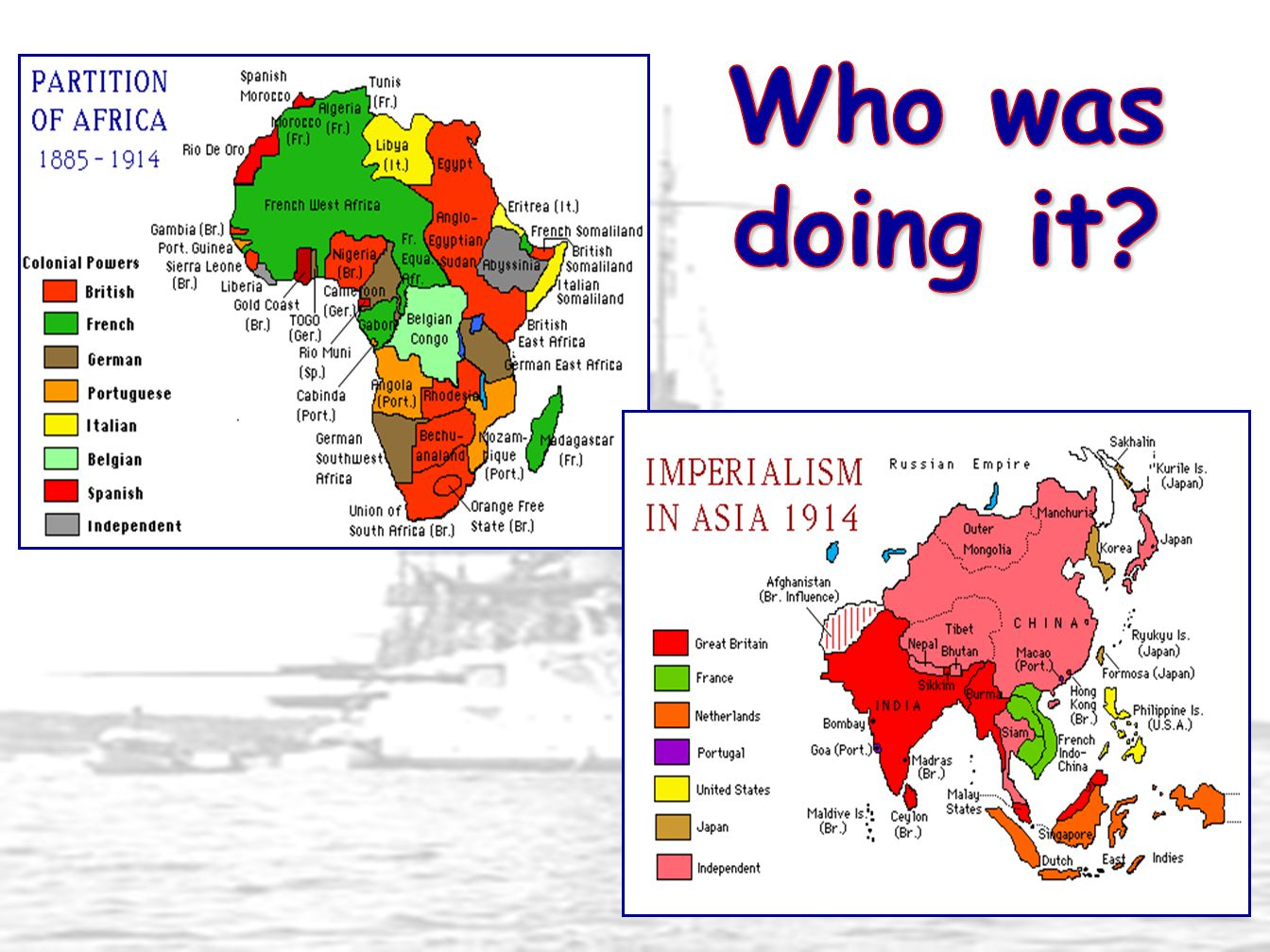 Spheres of influence – area where another country has political & economic control