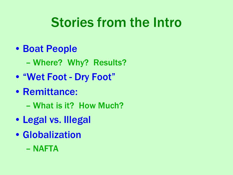 Stories from the Intro Boat People –Where.Why. Results.