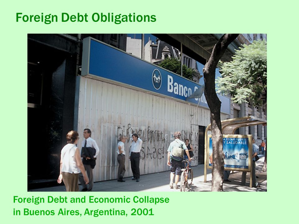 Foreign Debt and Economic Collapse in Buenos Aires, Argentina, 2001 Foreign Debt Obligations