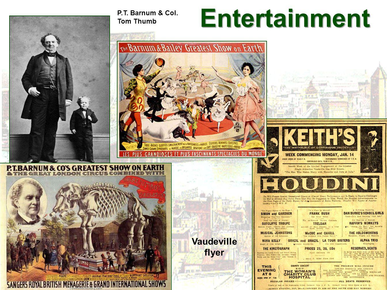 Entertainment Entertainment P.T. Barnum & Col. Tom Thumb Vaudeville flyer