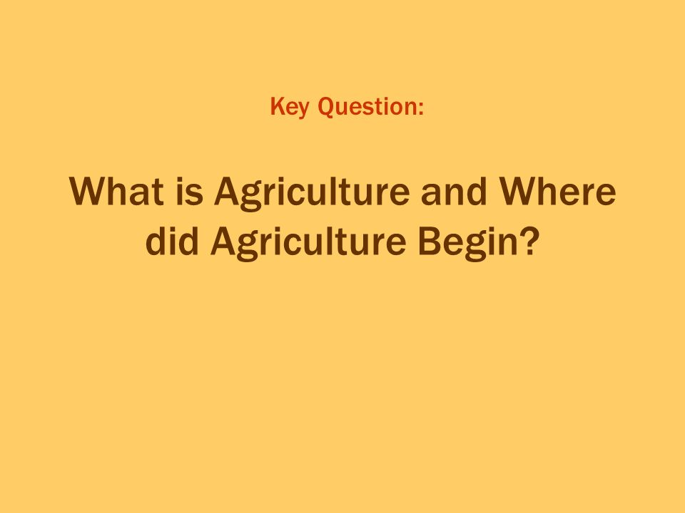 The First Agricultural Revolution Where did animal domestication begin.