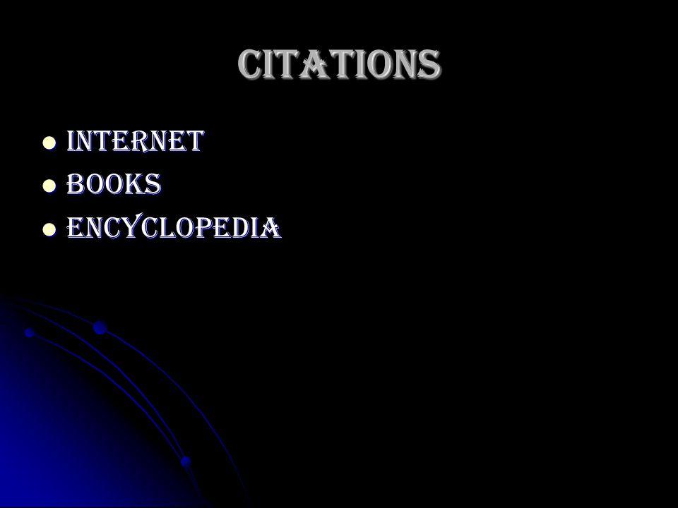 Citations Internet Internet Books Books encyclopedia encyclopedia