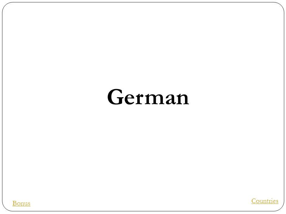 German Countries Bonus