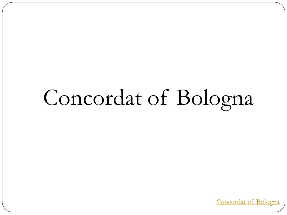 Concordat of Bologna