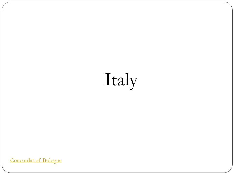 Italy Concordat of Bologna