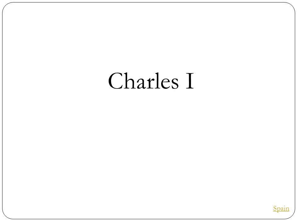 Charles I Spain