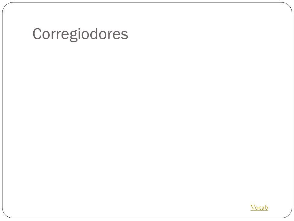 Corregiodores Vocab