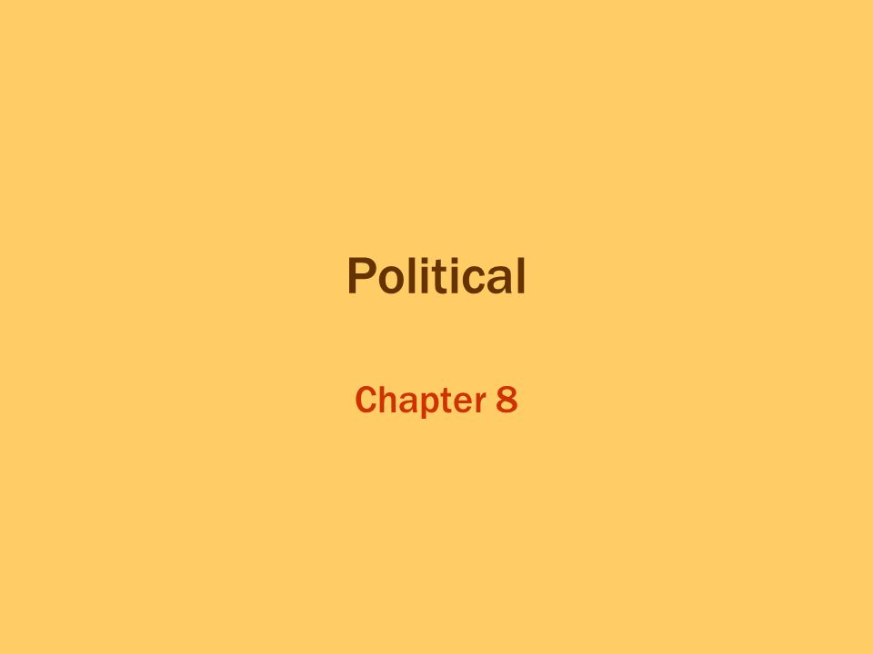 Political Chapter 8