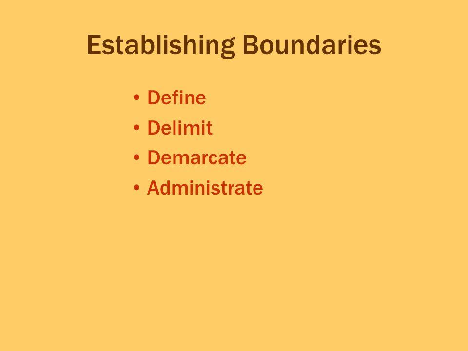 Establishing Boundaries Define Delimit Demarcate Administrate