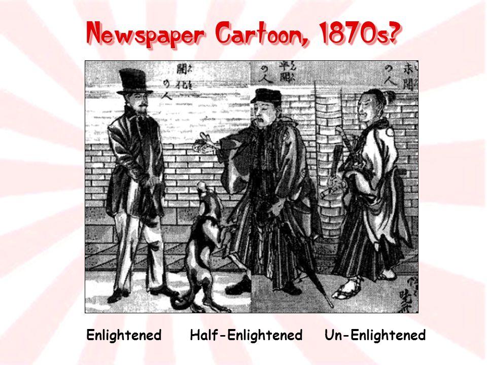 Newspaper Cartoon, 1870s? Enlightened Half-Enlightened Un-Enlightened