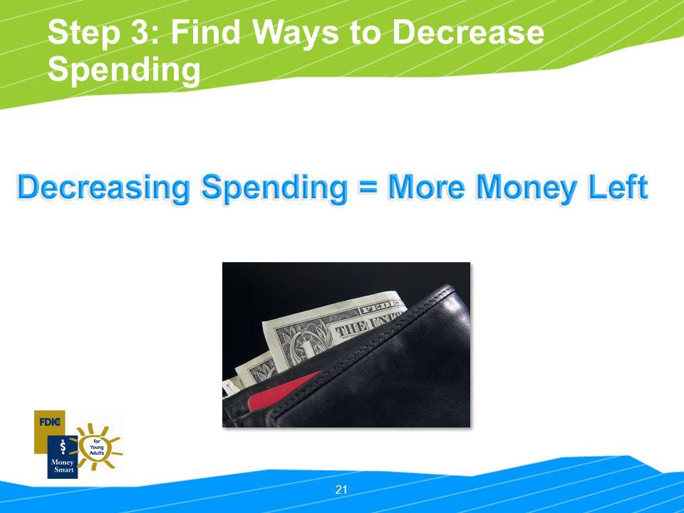 21 Step 3: Find Ways to Decrease Spending