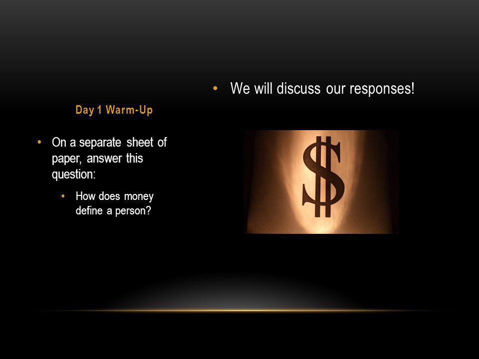 We will discuss our responses.
