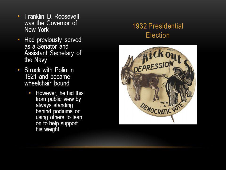 1932 Presidential Election Franklin D.