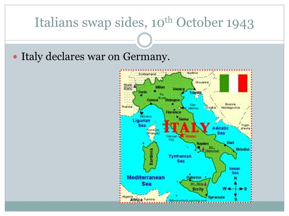 Italy Surrenders, 28 th September 1943