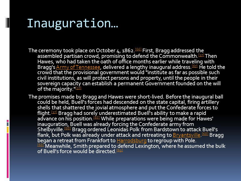Inauguration… The ceremony took place on October 4, 1862.
