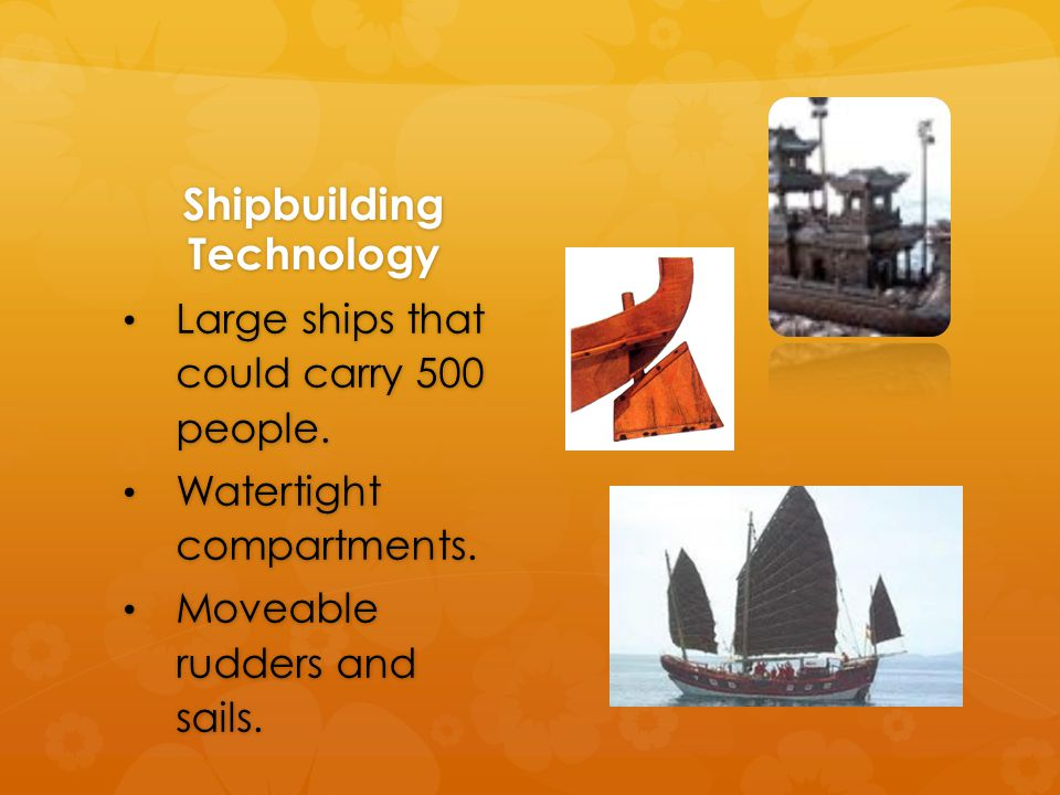 Shipbuilding Technology Large ships that could carry 500 people.