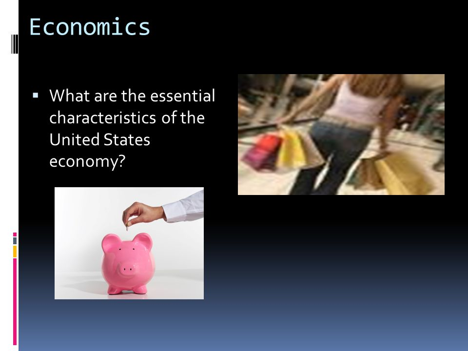 Economics  What are the essential characteristics of the United States economy?