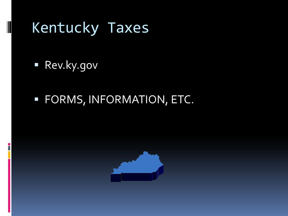 Kentucky Taxes  Rev.ky.gov  FORMS, INFORMATION, ETC.