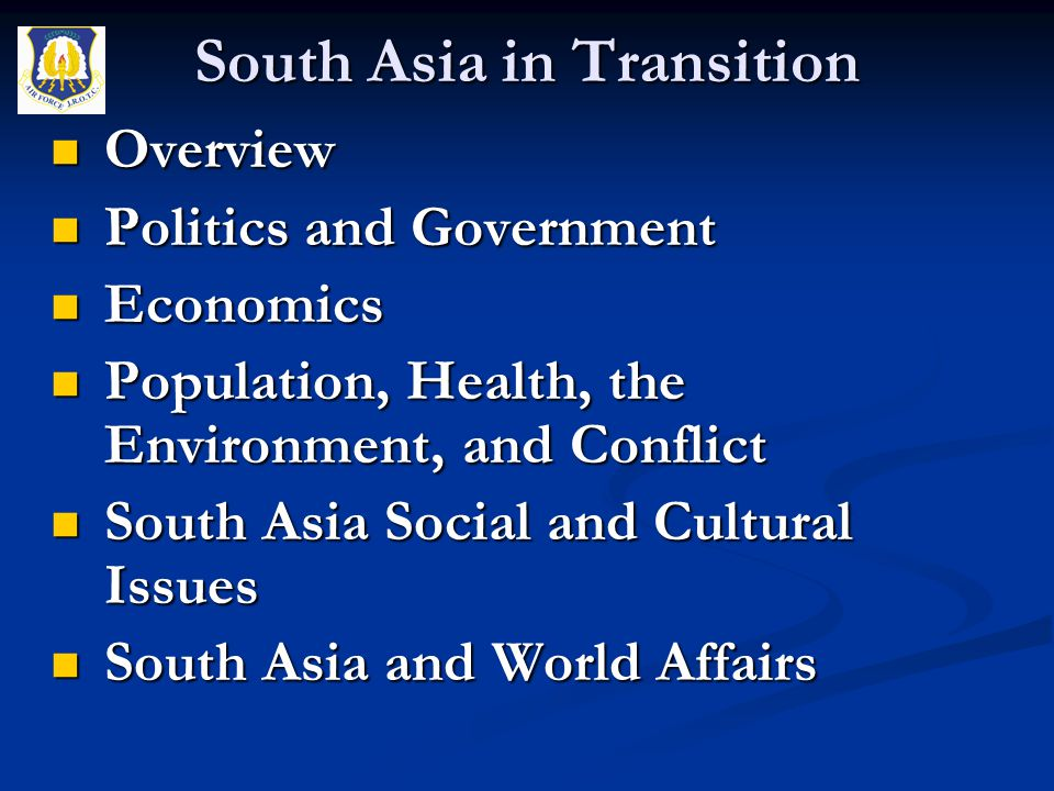 Overview Overview Politics and Government Politics and Government Economics Economics Population, Health, the Environment, and Conflict Population, He