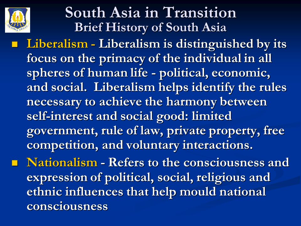 Liberalism - Liberalism is distinguished by its focus on the primacy of the individual in all spheres of human life - political, economic, and social.