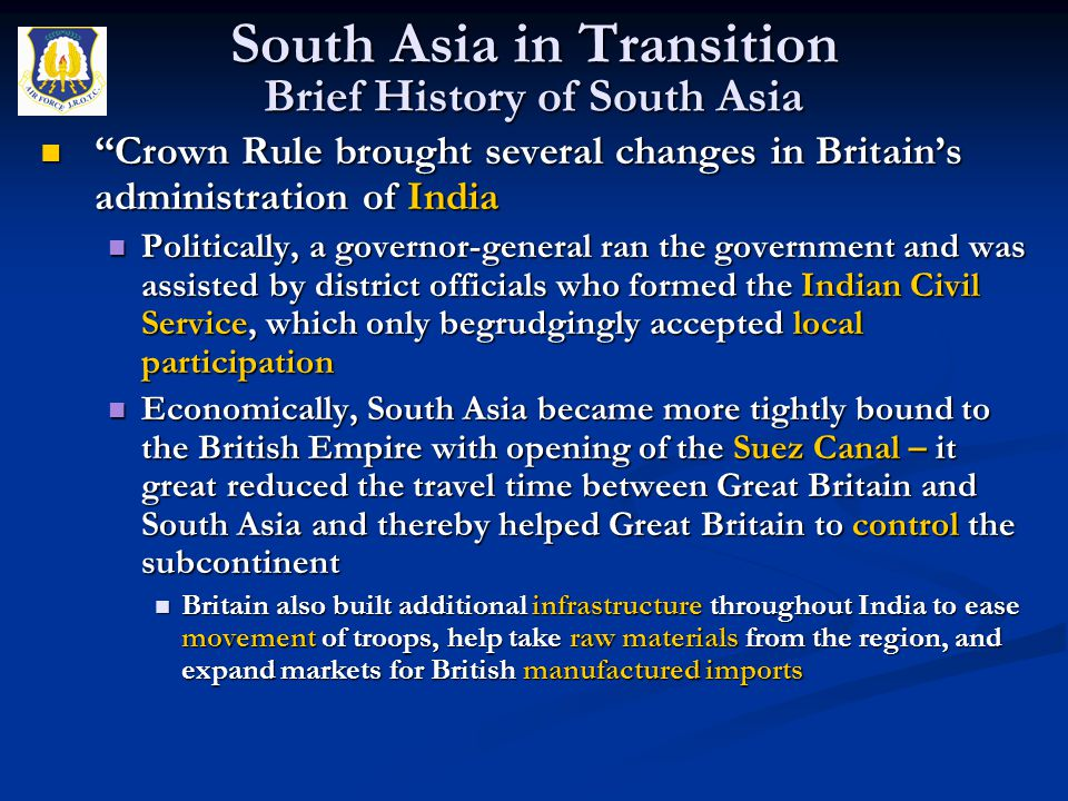 """""""Crown Rule brought several changes in Britain's administration of India """"Crown Rule brought several changes in Britain's administration of India Poli"""