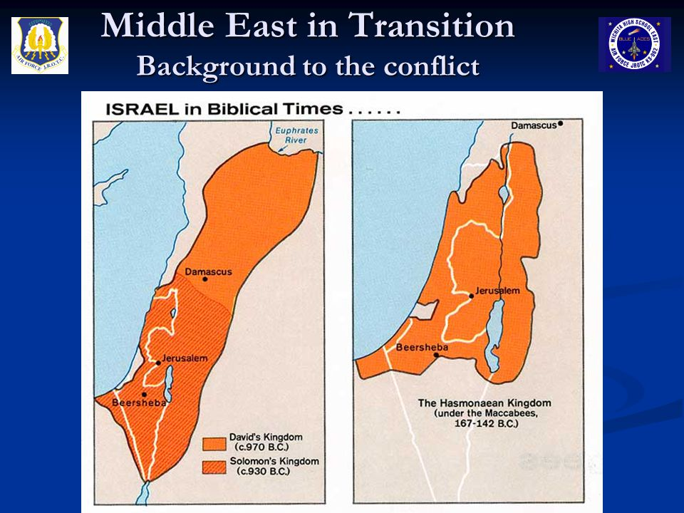 Middle East in Transition Background to the conflict
