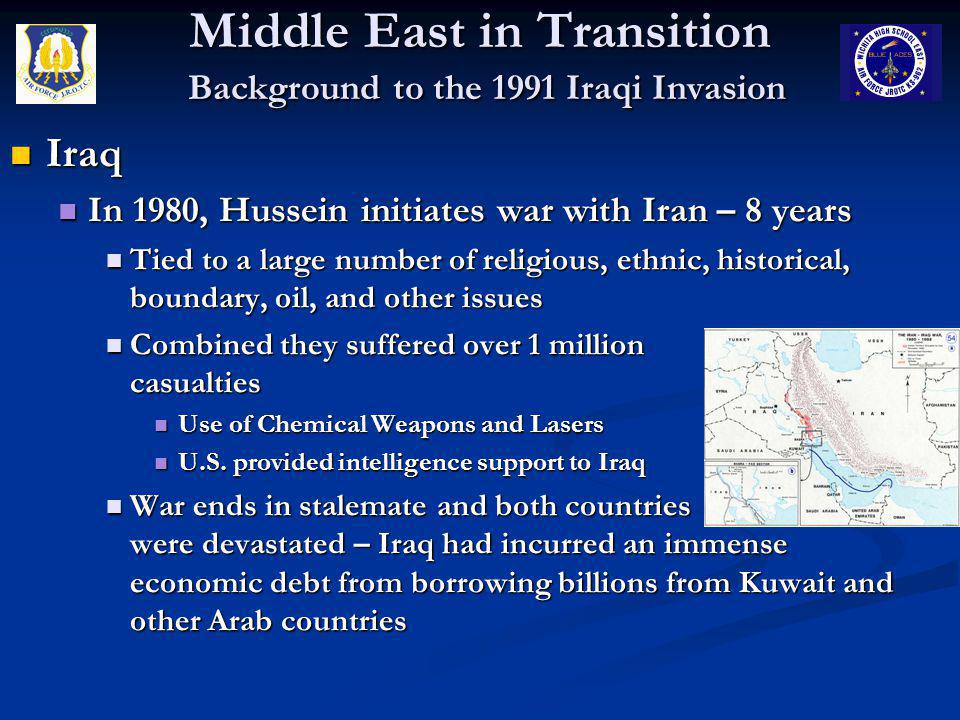 Middle East in Transition The Persian Gulf War Questions