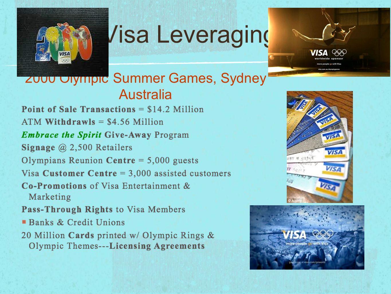 Visa Leveraging 2000 Olympic Summer Games, Sydney Australia