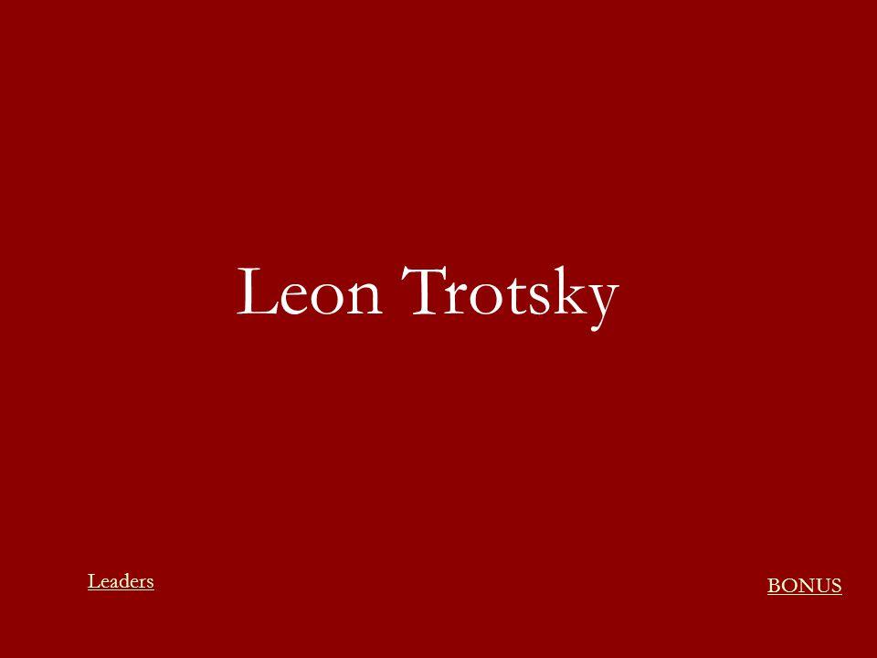 Leon Trotsky BONUS Leaders