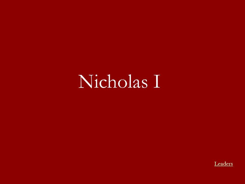 Nicholas I Leaders
