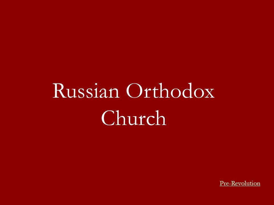 Russian Orthodox Church Pre-Revolution