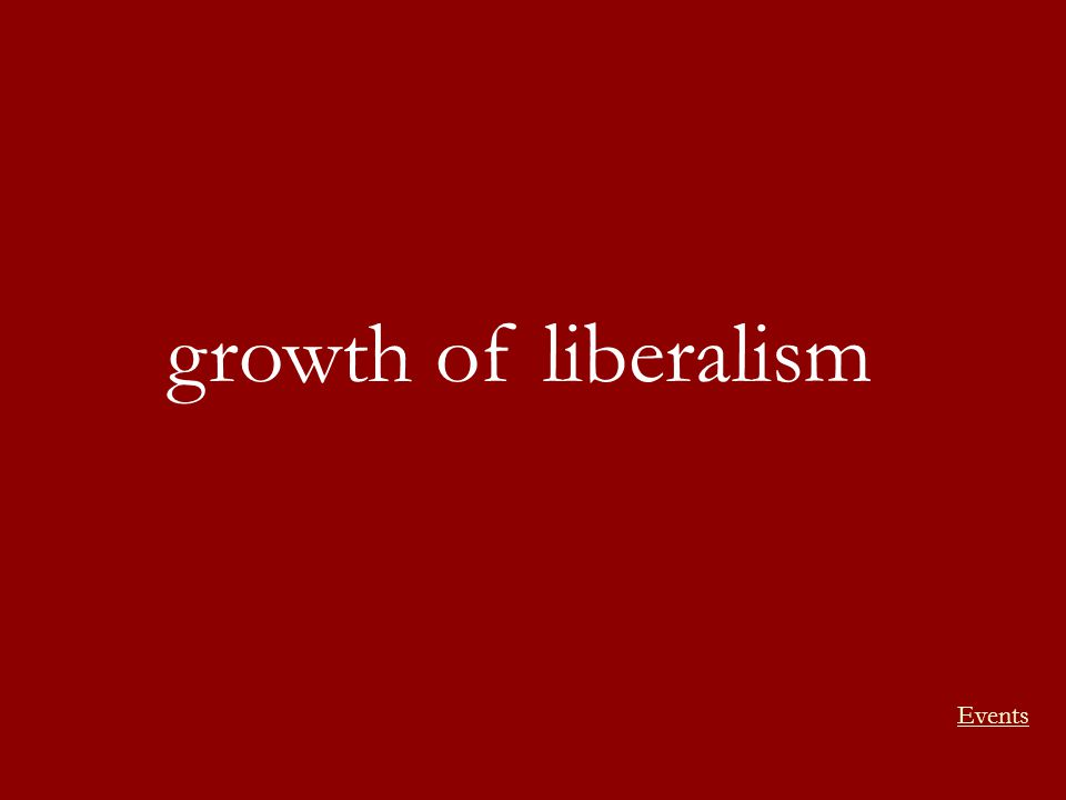 growth of liberalism Events