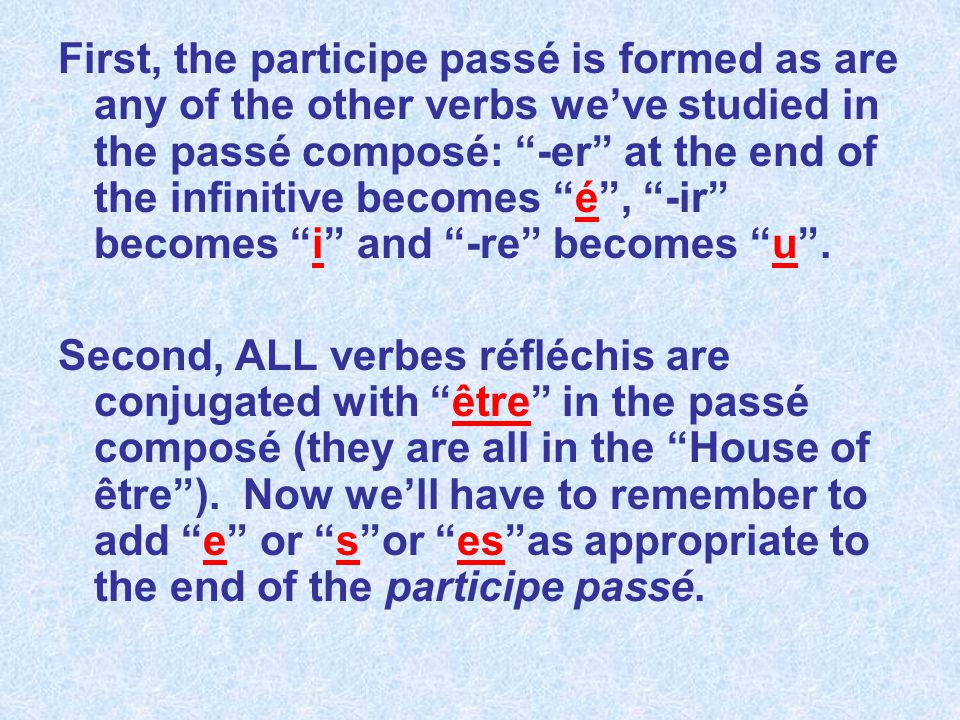 Third, the reflexive pronoun is placed just where it always is: in front of the verb (remember Mlle Pronom and M.