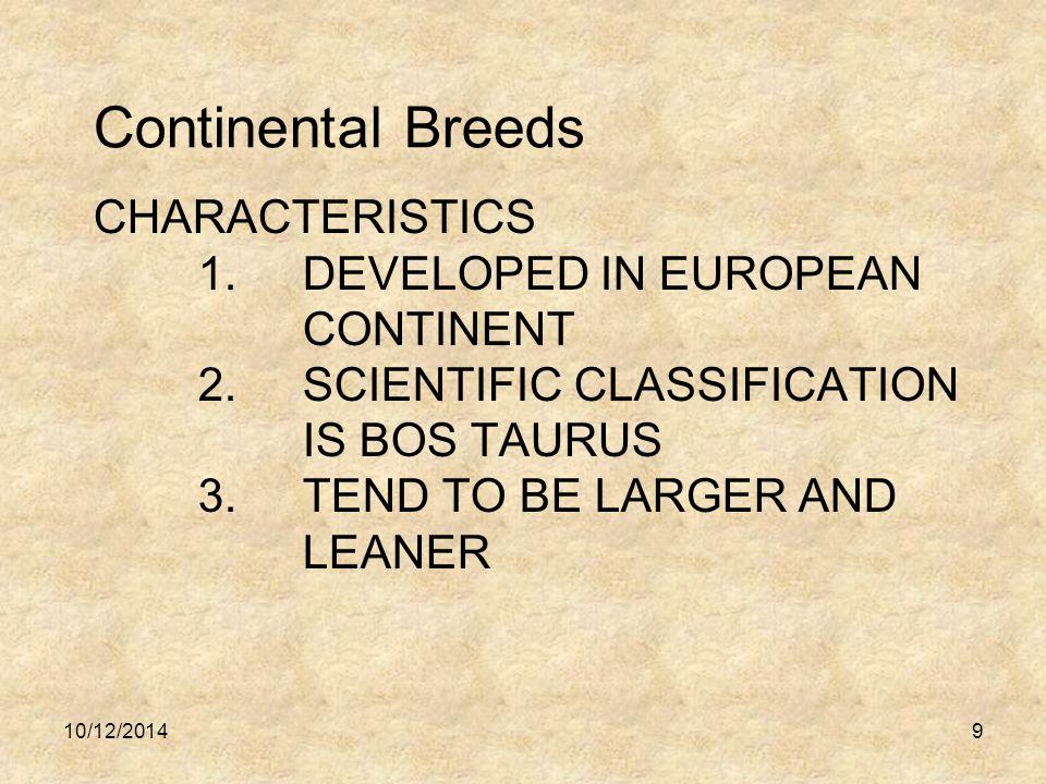 CHARACTERISTICS 1.