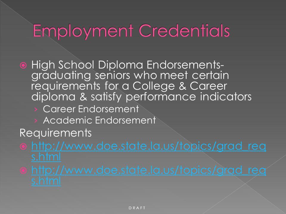  High School Diploma Endorsements- graduating seniors who meet certain requirements for a College & Career diploma & satisfy performance indicators ›