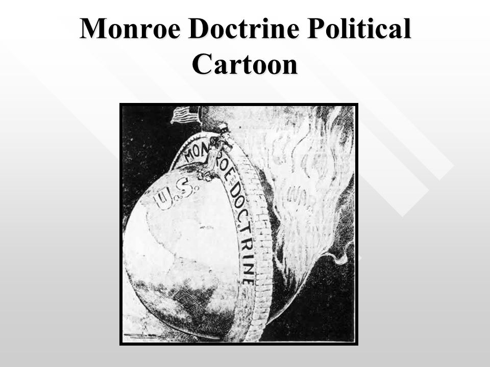 Monroe Doctrine Political Cartoon