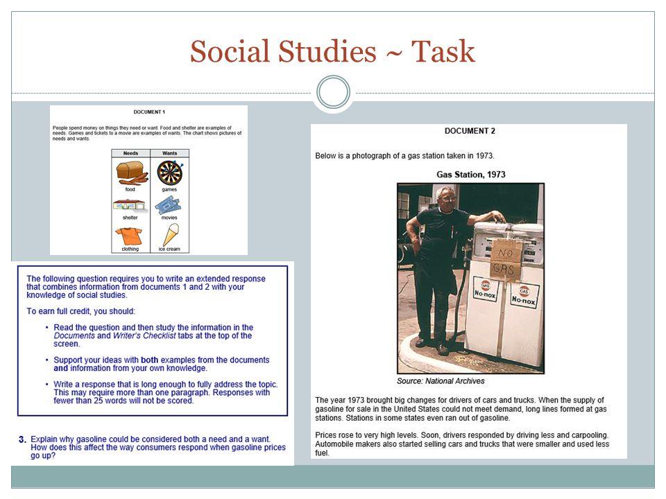 Social Studies ~ Task
