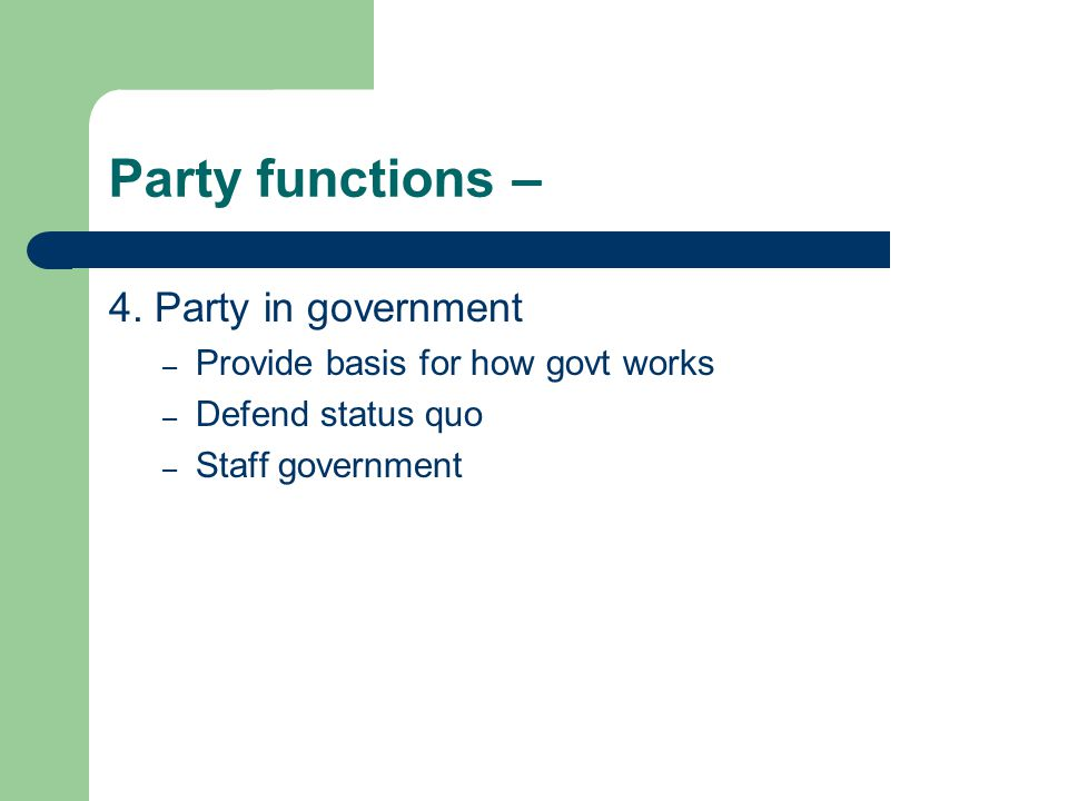 Party functions – 4.