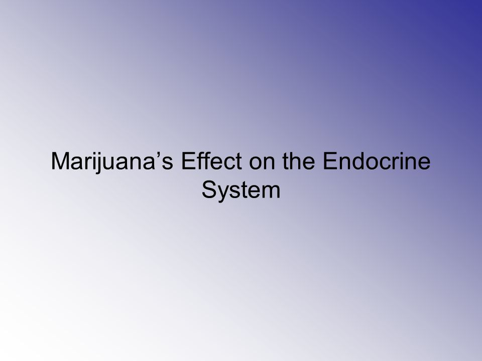 Glands Affected By Marijuana Marijuana damages the network of glands, organs, and hormones involved in growth and development, energy levels, and reproduction.