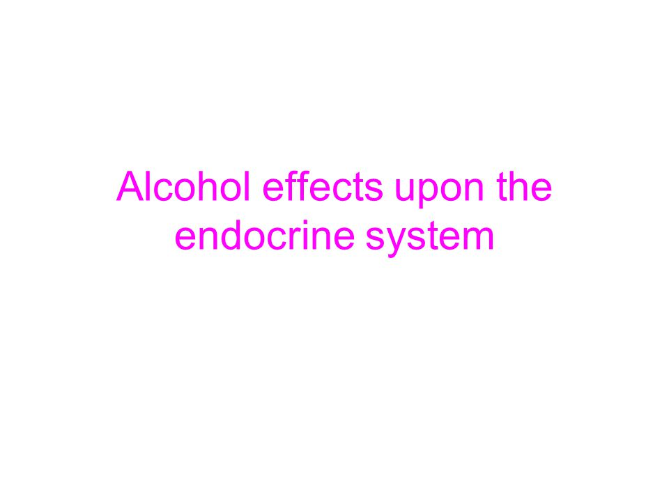 The endocrine system This system controls the body s hormones and includes the pineal, pituitary, thyroid, and adrenal glands, and the ovaries or testes The major effect alcohol has on these is it sedtaes the glands