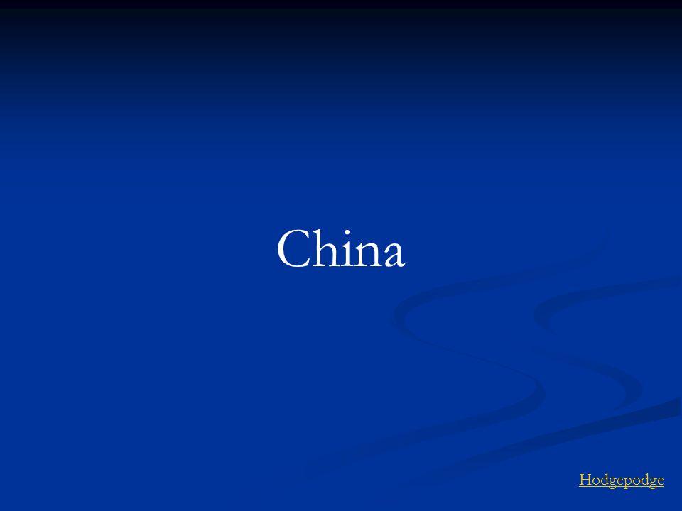 China Hodgepodge