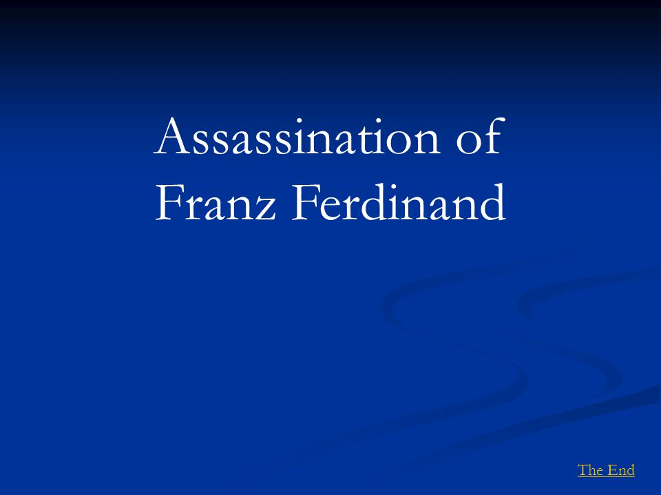 Assassination of Franz Ferdinand The End