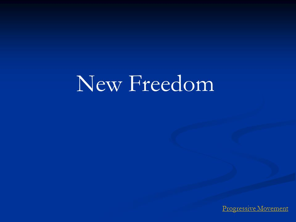 New Freedom Progressive Movement